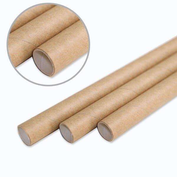 画像1: 紙ストロー 小粒のタピオカ用 ストレート 未晒し(クラフト) 裸 10x210mm (1)