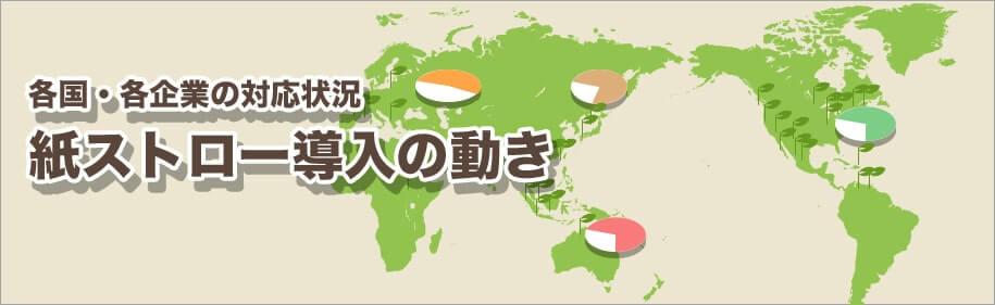 紙ストローの世界の動向イメージ図