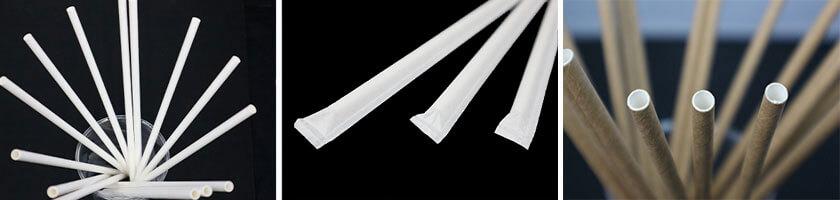 紙ストローは色やサイズなど様々なオーダーメイドが可能です