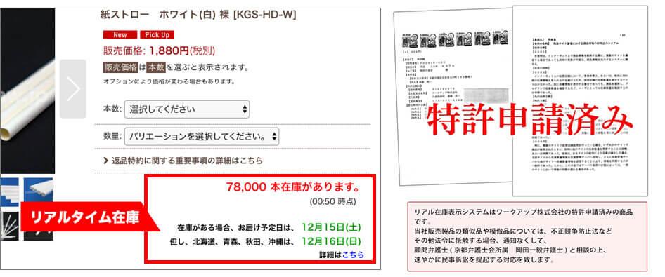 リアルタイム在庫システムと特許申請