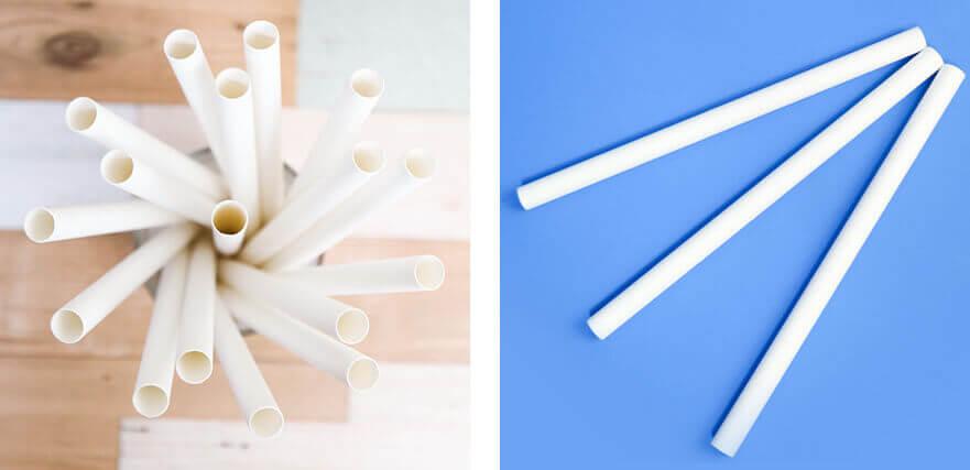 紙ストロータピオカ用白のイメージ写真