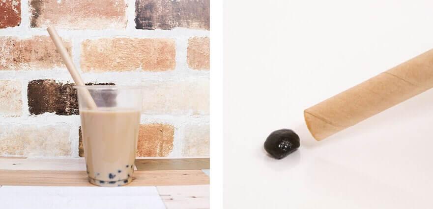 紙ストロータピオカ用茶のイメージ写真