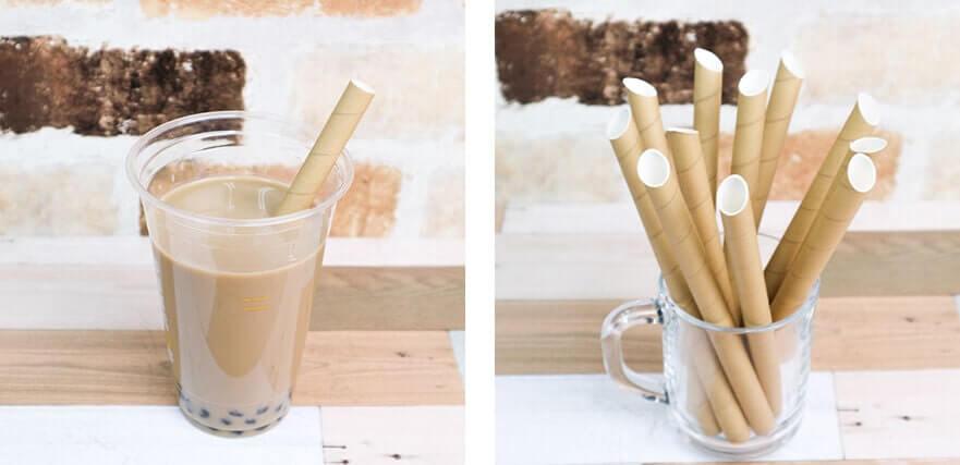 紙ストロータピオカ用斜めカット茶のイメージ写真