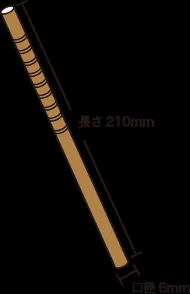 口径6ミリx長さ210ミリ