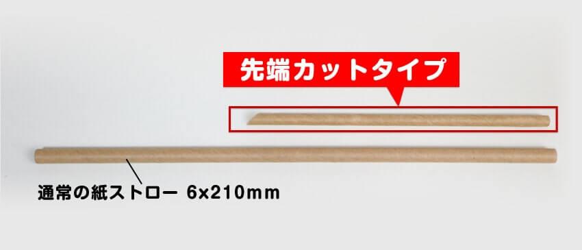 他の紙ストローと長さを比べた写真