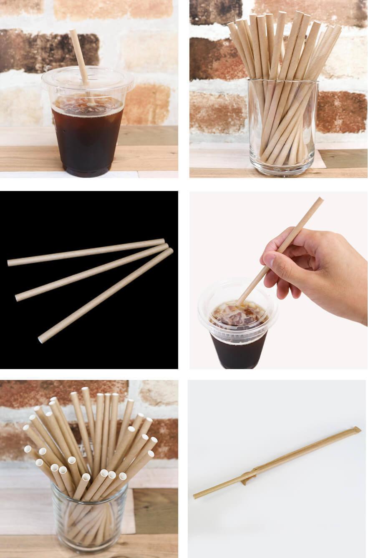 紙ストローミニサイズ茶のイメージ写真